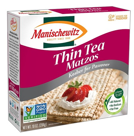 Manischewitz Passover Thin Tea Matzo, 10 oz. (Case of 24)