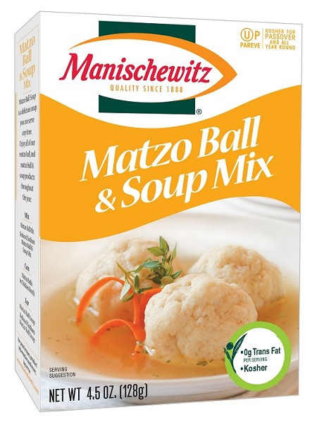 Manischewitz Reduced Sodium Matzo Ball & Soup Mix, 4.5 oz. (Case of 12)