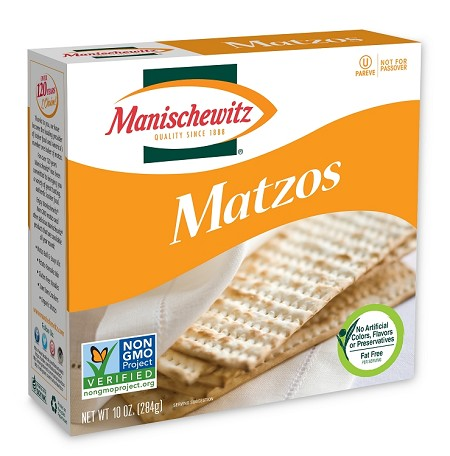 Manischewitz Unsalted Matzo, 10 oz. (Case of 12)