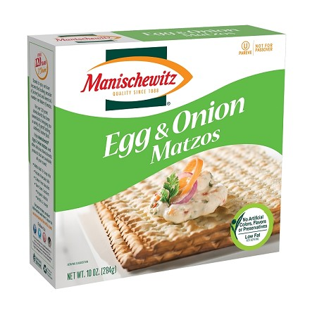 Manischewitz Egg & Onion Matzo, 10 oz. (Case of 12)
