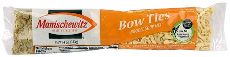 Manischewitz Bowtie Noodle Cello Soup Mix, 4 oz. (Case of 24)