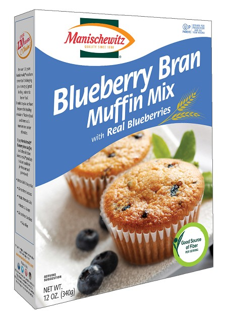 Manischewitz Blueberry Bran Muffin Mix with Real Blueberries, 12 oz. (Case of 12)
