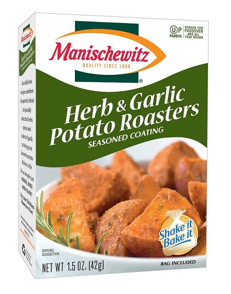 Manischewitz Herb & Garlic Potato Roasters Seasoned Coating Mix, 1.5 oz. (Case of 12)