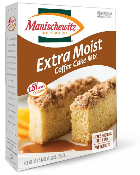 Manischewitz Extra Moist Coffee Cake Mix, 13 oz. (Case of 12)