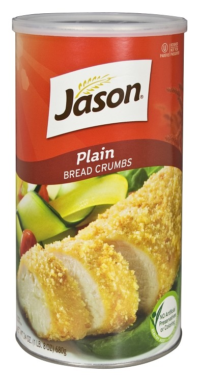 Jason Plain Bread Crumbs, 24 oz. (Case of 12)