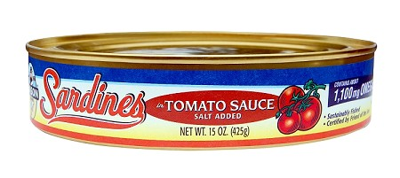 Season Sardines In Tomato Sauce, 15 oz. - Oval - Morocco (Case of 24)