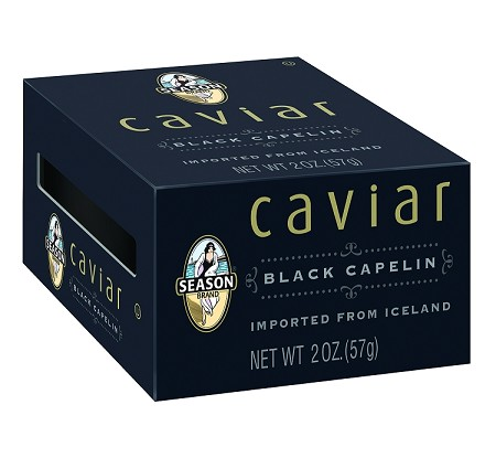 Season Black Capelin Caviar, 2 oz. (Case of 12)