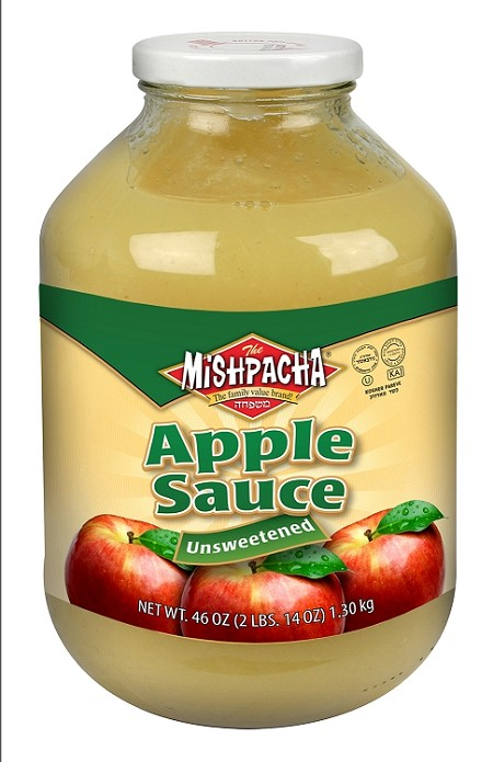 Mishpacha Unsweetened Applesauce, 46 oz. (Case of 8)