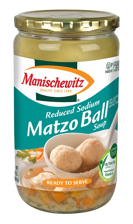 Manischewitz Reduced Sodium Matzo Ball Soup, 24 oz. (Case of 12)
