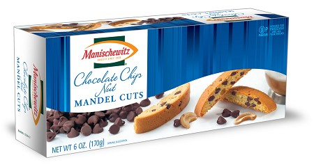 Manischewitz Chocolate Chip Nut Mandel Cuts, 6 oz. (Case of 12)