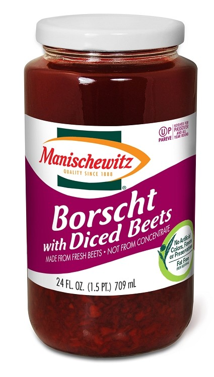 Manischewitz Borscht with Diced Beets, 24 oz. (Case of 12)