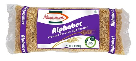 Manischewitz Alphabets Egg Noodles, 12 oz. (Case of 12)