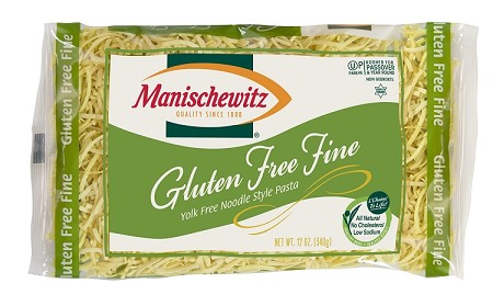 Manischewitz Gluten Free Yolk Free Fine Noodles, 12 oz., Product of Israel (Case of 12)