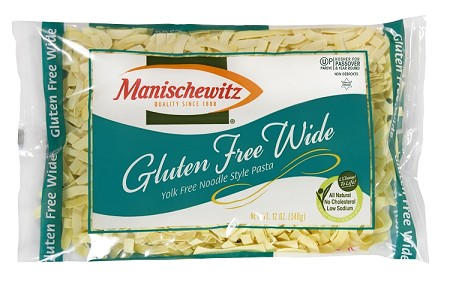 Manischewitz Gluten Free Yolk Free Wide Noodles, 12 oz., Product of Israel (Case of 12)