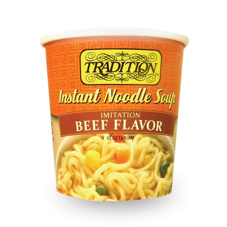 Tradition Beef Flavor Instant Noodle Soup - Cup, 2.29 oz. (Case of 12)