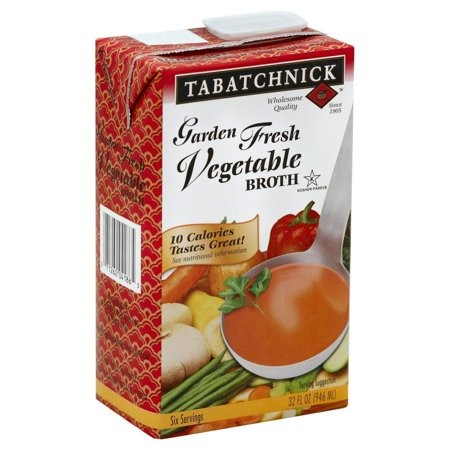 Tabatchnick Garden Fresh Vegetable Broth, 32 Oz (Pack of 12)