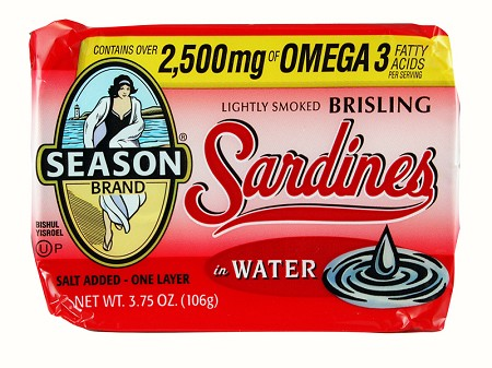 Season One Layer Salt Added Lightly Smoked Brisling Sardines In Water, 3.75 oz. - Scotland (Case of 12)