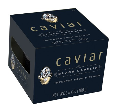 Season Black Capelin Caviar, 3.5 oz. (Case of 12)