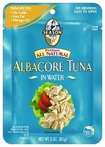 Season Premium All Natural Albacore Tuna in Water, 3 oz. Pouch (Case of 12)
