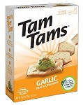 Manischewitz Garlic Tam Tams Snack Crackers, 9.6 oz. (Case of 12)