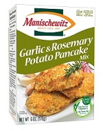 Manischewitz Garlic & Rosemary Potato Pancake Mix, 6 oz. (Case of 12)