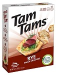 Manischewitz Rye Tam Tams Snack Crackers, 9.6 oz. (Case of 12)