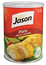 Jason Plain Bread Crumbs, 15 oz. (Case of 12)