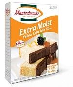 Manischewitz Extra Moist Yellow Cake Mix with Frosting, 14 oz. (Case of 12)