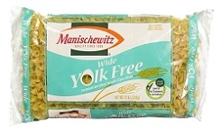 Manischewitz Yolk Free Wide Noodles, 12 oz. (Case of 12)