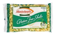 Manischewitz Gluten Free Shell Shaped Noodles, 12 oz., Product of Israel (Case of 12)