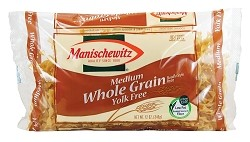 Manischewitz Whole Grain Yolk Free Medium Noodles, 12 oz. (Case of 12)