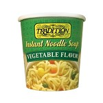 Tradition Vegetable Flavor Instant Noodle Soup - Cup, 2.29 oz. (Case of 12)
