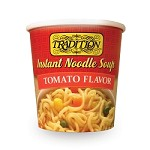Tradition Tomato Flavor Instant Noodle Soup - Cup, 2.29 oz. (Case of 12)